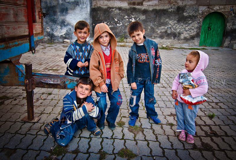 Children of Kaymakli, Cappadocia