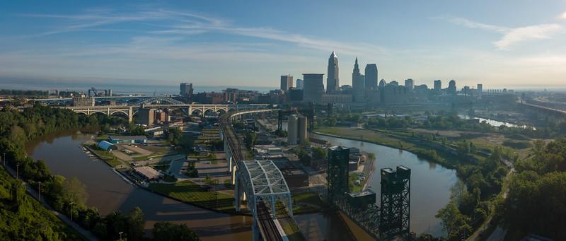 Cuyahoga River, Irishtown Bend, Cuyahoga, Aerial