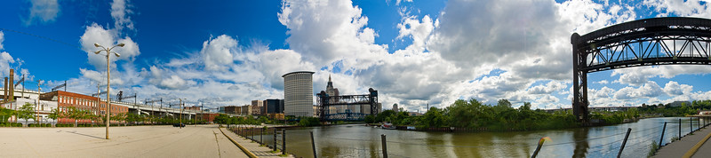Cleveland, Industrial Flats, Cuyahoga River