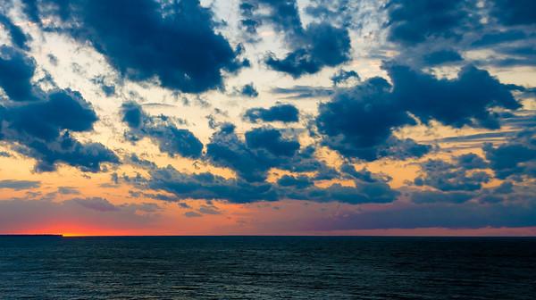 Cleveland, Ohio Lake Erie Sunset