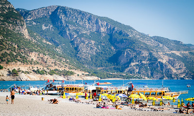 The beach at Ölüdeniz