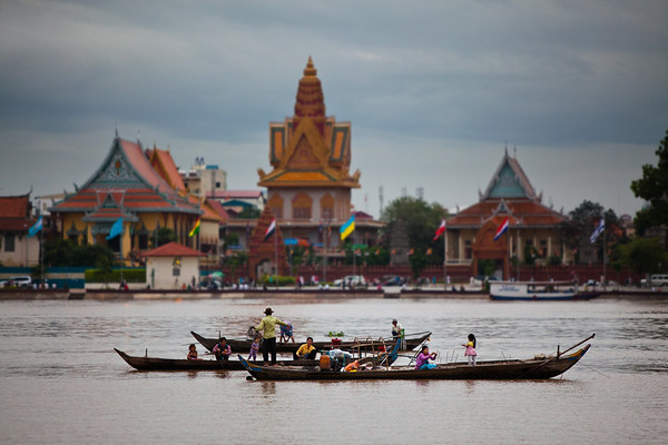 Life on the River, Phnom, Penh, Cambodia