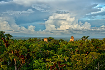 Tikal Sunset from Mundo Perdido