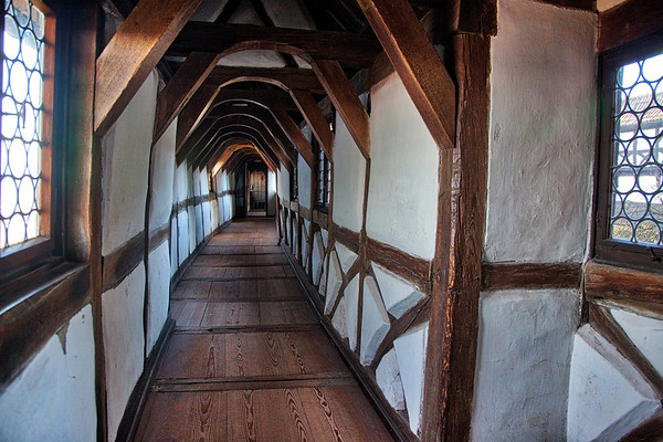Crooked Hallway, Wartburg Castle, Eisenach, Germany