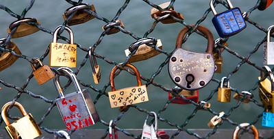 The Beggining Days of the Love Locks, Paris, France