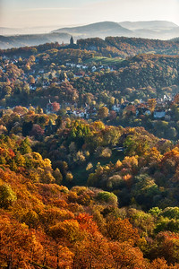 October Hills of Eisenach, Germany