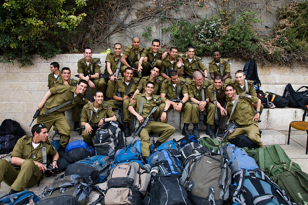 Group of Young Israeli Soldiers, Jerusalem, Israel