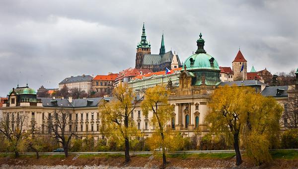 Cloudy daytime Prague Castle, Prague, Czech Republic