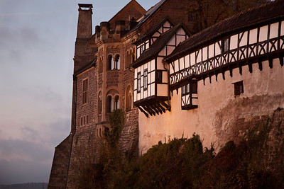 Wartburg Castle at dusk, Eisenach, Germany