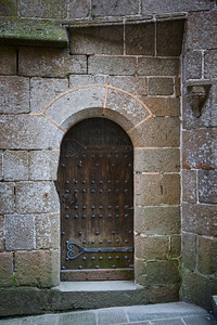 Arched Doorway, Mont Saint-Michel, France