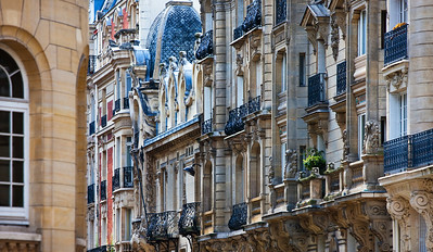 Balconies of Paris, France