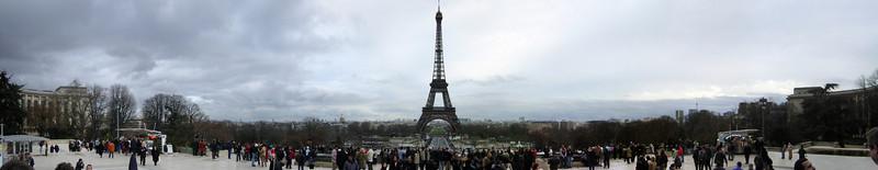 Eiffel Tower-wide panorama (photomerge)