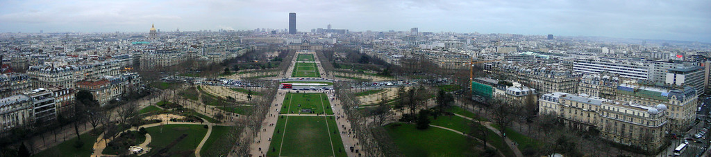 Panorama from Eiffel Tower (photomerge)