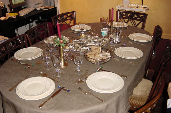 The table is set for dinner
