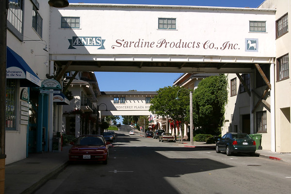 After walking around the pier, we head down Cannery Row
