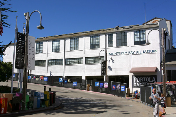 Our destination is at the far end of Cannery Row - the Monterey Bay Aquarium