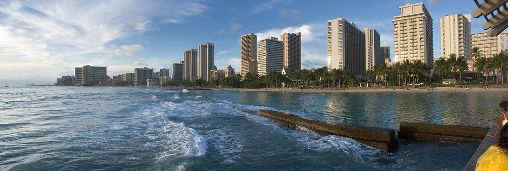 Another Waikiki panorama (Photomerge