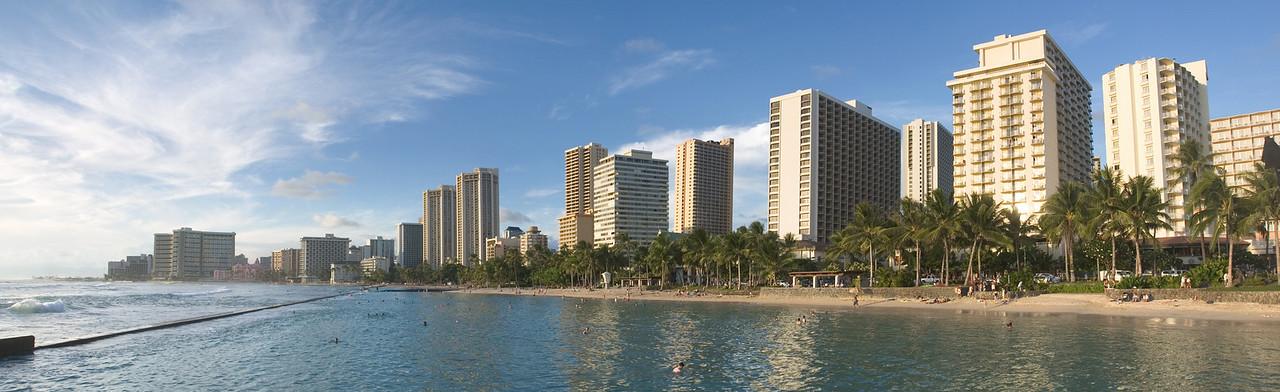 Waikiki panorama (Photomerge