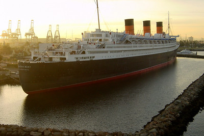 From here, we get a good look at the Queen Mary