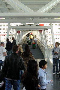 As we exit the dome, we see the boarding gangway