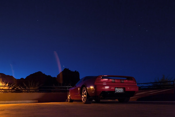 I am up early enough to reach Sedona Airport well before sunrise, so I start warming up the NSX