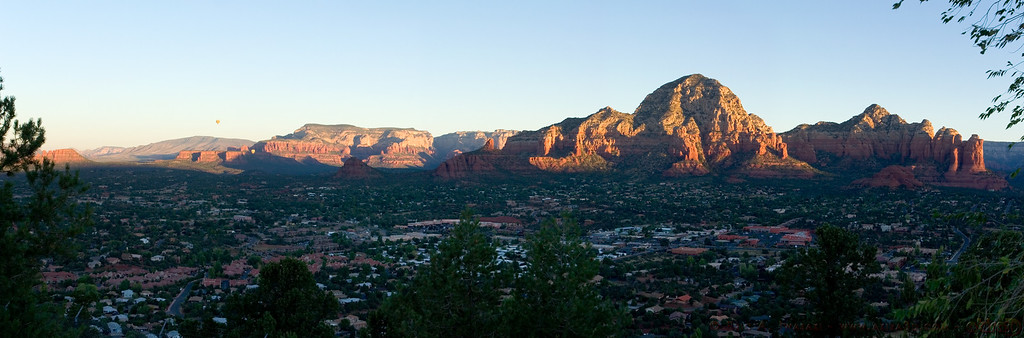 Sunrise over Sedona panorama