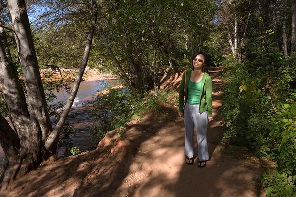 We follow the path along Oak Creek
