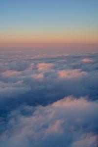 Descending towards the cloud tops