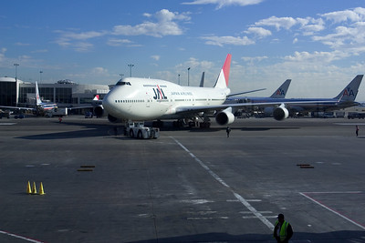 Our flight arrives at the gate