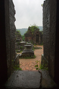 From within a doorway