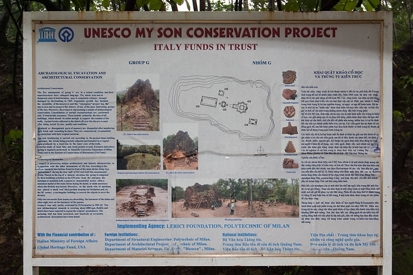 Information about the on going restoration of these ruins