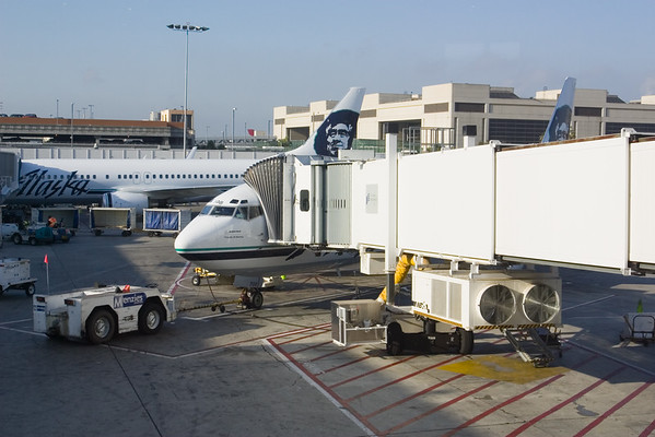 DAY 0 - We wait to board an Alaska Airlines 737-400