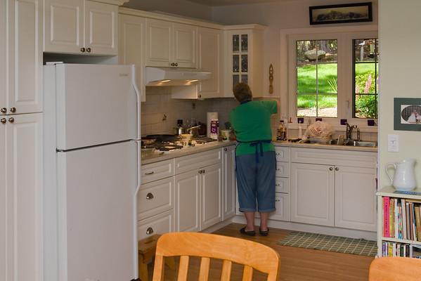 Jan prepares our meal