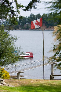 Canadian Flag waves in the breeze