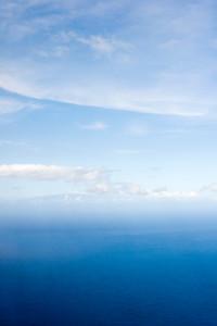 I can barely make out Haleakala through the haze