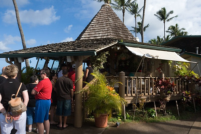 DAY 09 - I did not need to run 9 miles to build up my appetite for Gazebo (at Napili Shores)...unfortunately, there is already a line