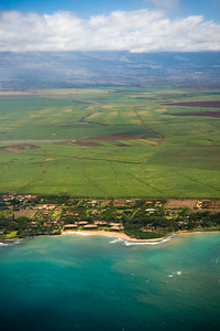 Our eastbound flight initially parallels the northern coast of Maui