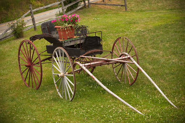 An old horse drawn carriage