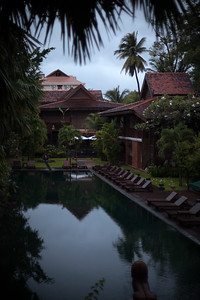 DAY 10 - View of the pool from our room at La Residence d'Angkor before sunrise