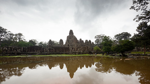 It is raining when we arrive at Prasat Bayon...has our luck with the weather finally run out?