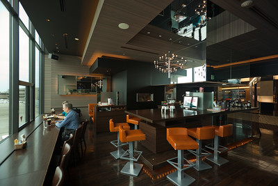 Cafe & Bar Avion has a nice ambience, but those bar stools look a bit beat up!
