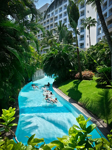 Ideally you grab an innertube and let the Lazy River's current carry you all the way around