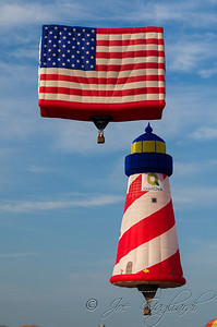New balloons this year include the QuickChek Flighthouse, a 115-foot-tall flying lighthouse that pays respects to Restore the Shore efforts in the wake of the Superstorm Sandy devastation..   Also he PNC American Flag balloon. Five stories tall, it was created following 9/11 and has flown at the Festival every year since.