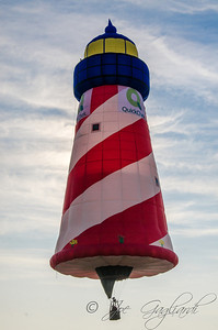 A 115-foot-tall flying lighthouse will pay respects to restore the shore efforts