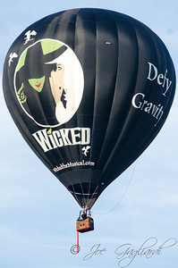 "A ""Wicked"" balloon spotlighting the hit Broadway play"