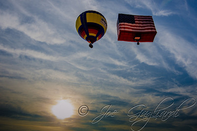 The PNC American Flag balloon. Five stories tall, it was created following 9/11 and has flown at the Festival every year since.