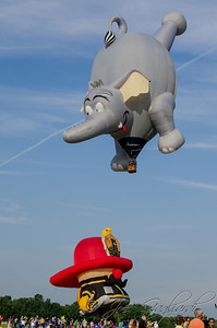 100-foot inverted elephant balloon.