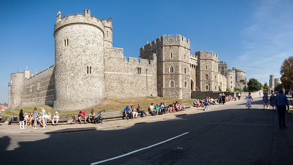 Windsor Castle from Castle Hill Panorama (photomerge)