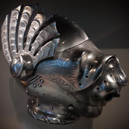 Grotesque Austrian(?) helmet
