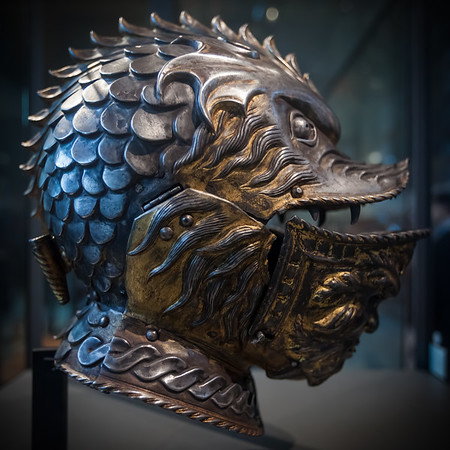 This is an Italian helmet...wonder how long it took to make?